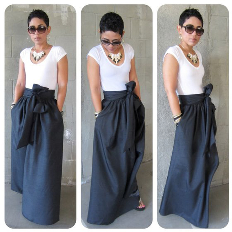 Popular Long Black Taffeta Skirt-Buy Cheap Long Black Taffeta ...