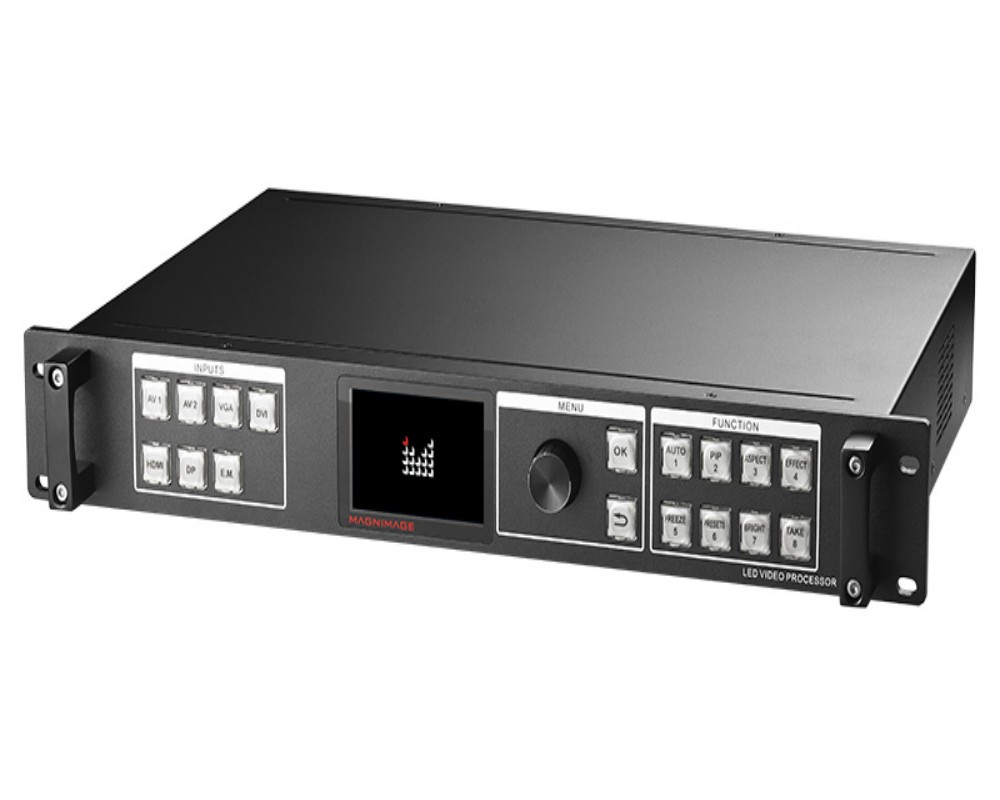 LED-580F series video processor supports 4Kx2k input Dual link DVI output, DP output