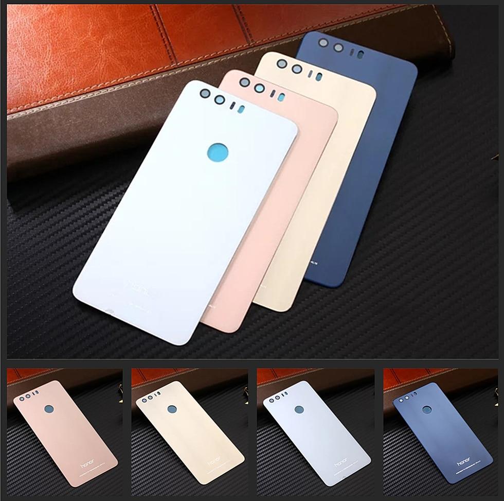 imágenes para Oficial Original Volver Cubierta de La Batería Para Huawei Honor 8 Caja Del Teléfono de Lujo de Cristal Templado Honor8 Viviendas piezas de Repuesto