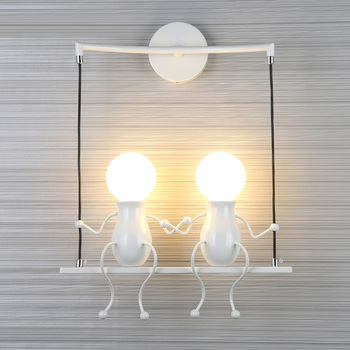 kid's room Lucky doll Wall light sconce for Bedroom Stairs Balcony little man indoor LED wall Lamp kid's lighting Mirror Light
