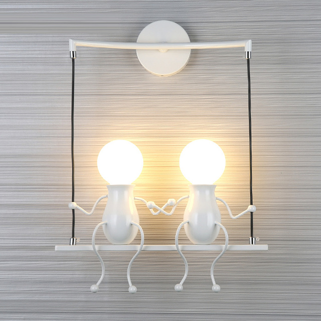 Kid S Room Lucky Doll Wall Light Sconce For Bedroom Stairs Balcony Little Man Indoor Led