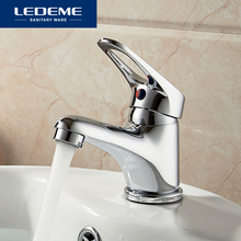 LEDEME Basin Faucets Basin Faucet Tap Mixer Finish Brass Vessel Stylish Sink Water Chrome Modern Waterfall Faucets L1013