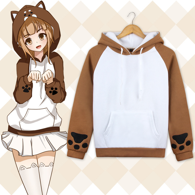 Anime Lovely Muco Shiba Inu Hooded Hoodie Cosplay Costume Cute Dog Daily Casual Jacket Men & Women Sweatshirt