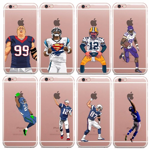 brand new 06e25 504bb US $1.99 |Phone Cover For iPhone SE 5 5S 5C 6 6S 6Plus 7 7Plus New York  Giants OBJ Odell Beckham Jr. Transparent Clear Plastic Case-in Half-wrapped  ...