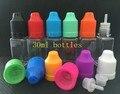 100pcs  Square Bottle 30ML Plastic Bottle For Ecig E liquid With Child Proof Safety Cap For Ejuice empty oil bottles