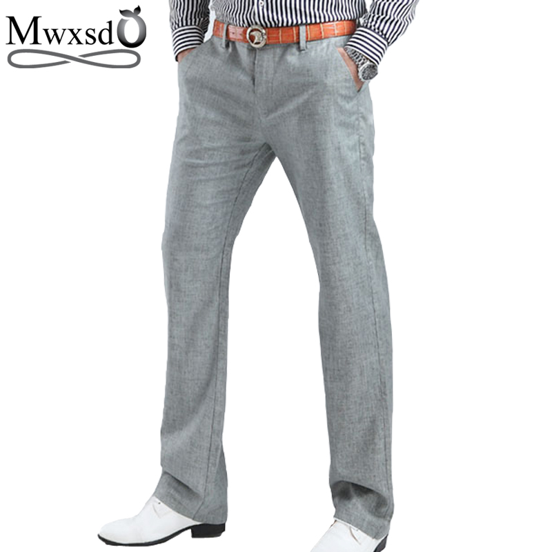 Mwxsd Casual summer trousers Men's Clothing male pants Size