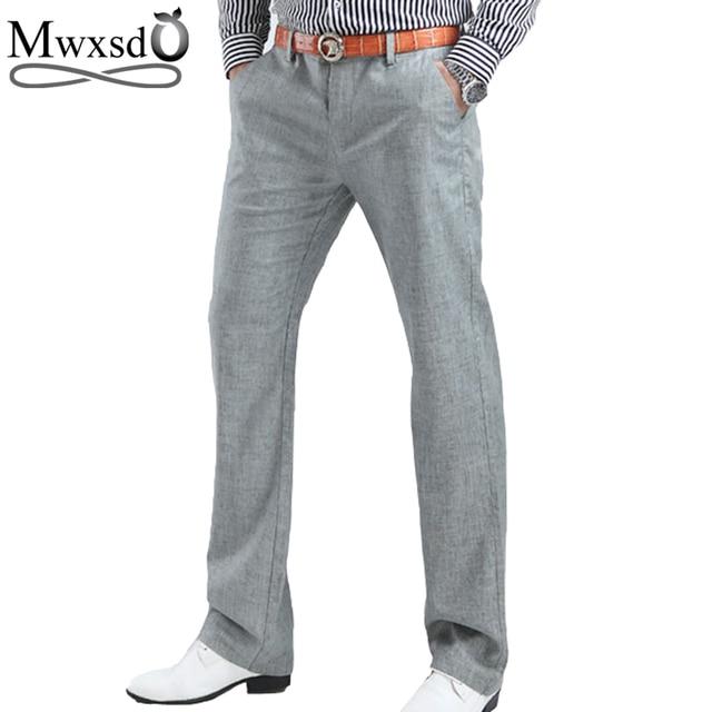 2018 High Quality Men S Linen Pants Men Casual Summer Breathing