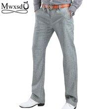 2018 high quality Men's Linen Pants men Casual summer breathing trousers brand Men's Clothing male long dress pants Size 29-40