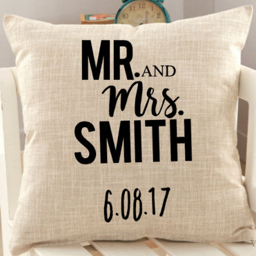 Personalized Wedding Mr Mrs Pillow Cover Favor Party Newlywed In Favors From Home Garden On Aliexpress