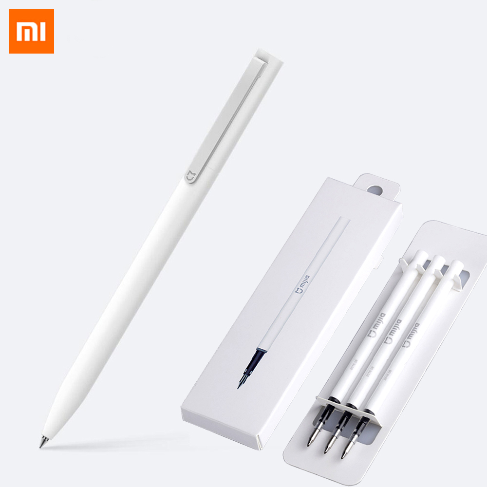 Original Xiaomi Mijia Sign Pens 9.5mm Signing Pens PREMEC Smooth Switzerland Refill MiKuni Japan Ink add Mijia Pens Black Refill original xiaomi mijia sign pens 9 5mm signing pens premec smooth switzerland refill mikuni japan ink add pens black blue refill