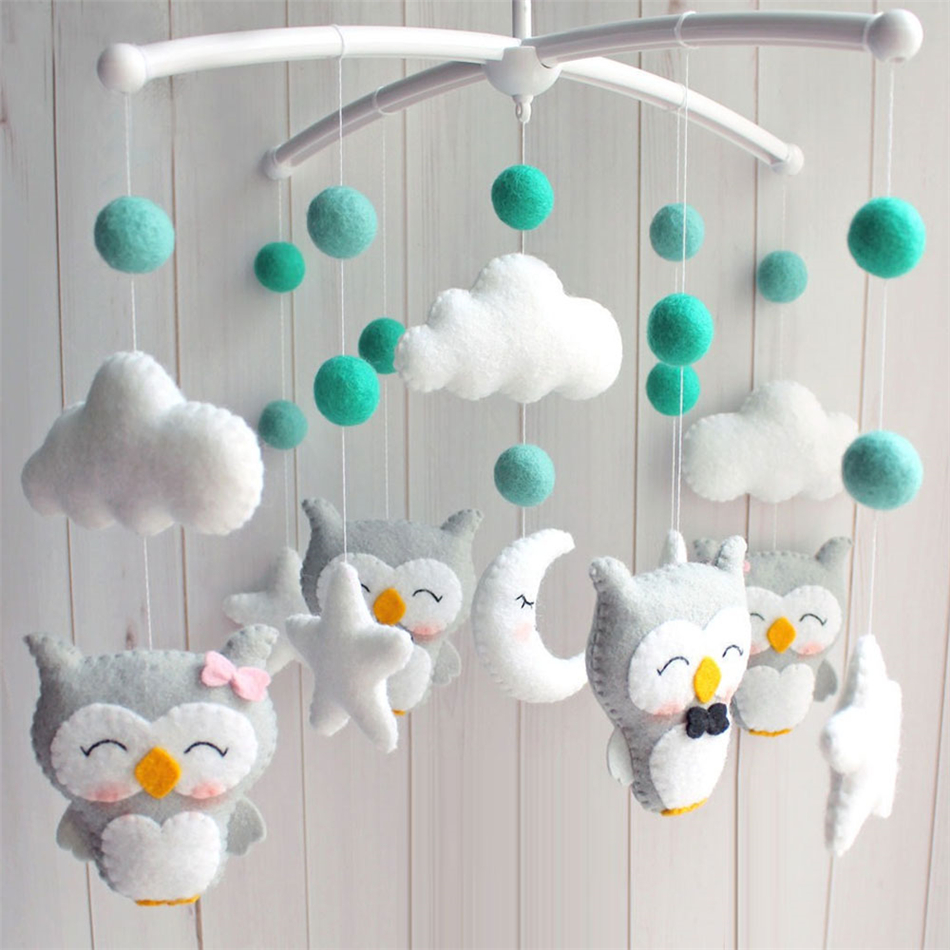 Baby Toys Mobile Crib Holder Rattles Bracket DIY Bed Bell Hanging Toy Material With Music Box Baby Toys 0-12 Months Rattles Toy