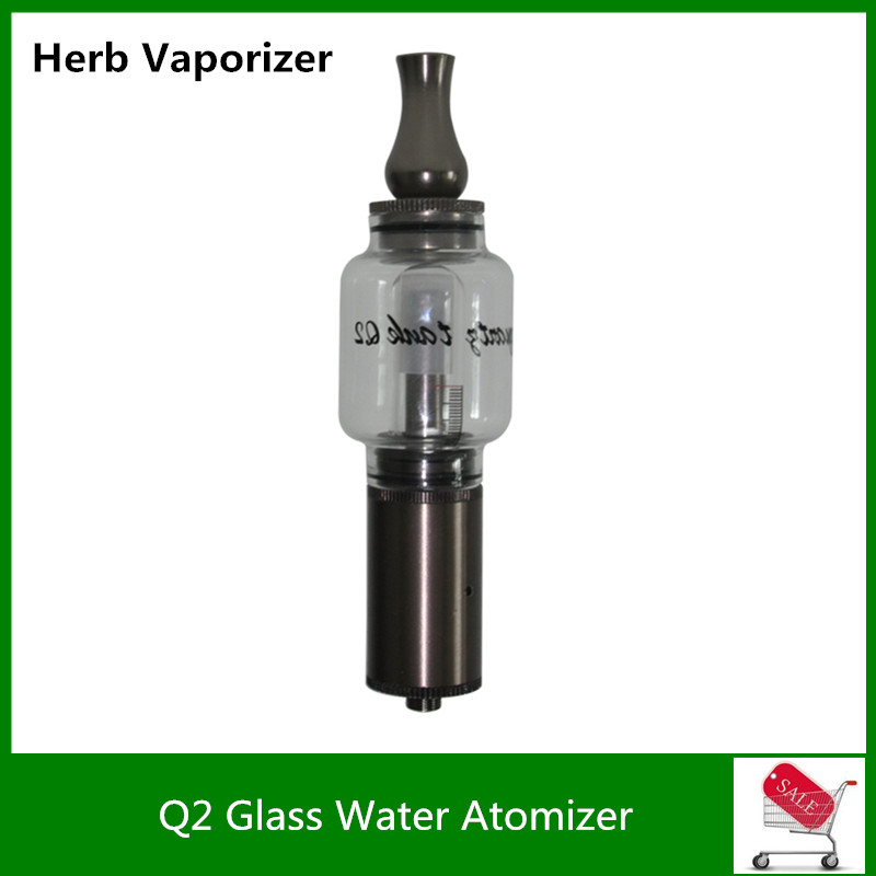 High Quality Water Filtering Ceramic Chamber Dry Herb Wax Hookah Pipe Q2 Glass Globe Water <font><b>Atomizer</b></font> <font><b>Tank</b></font> for 510 Mechanical Mod