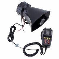 100W 12V 3/7 Sound Car Electronic Warning Siren Motorcycle Alarm Firemen Ambulance Loudspeaker with MIC
