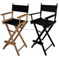 Folding Aluminum Director Chair Portable makeup chair Wood Chair black and wood colors