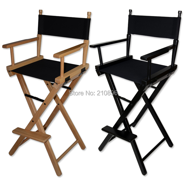 Folding Aluminum Director Chair Portable Makeup Wood Black And Colors