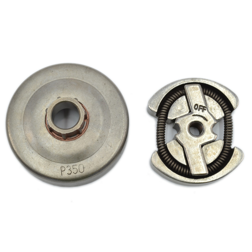 Chainsaw Clutch with Clutch Drum for Partner 350 351 Engine Tools Parts clutch drum kit with needle bearing 325 7t sprocket rim for partner 350 351 chainsaw parts