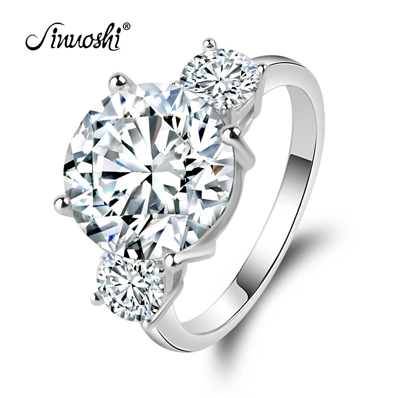 Poročni prstan z okroglim krogom 5 karatnih krog obljubljajo nakit 925 šterling srebra za ženske poročni prstan