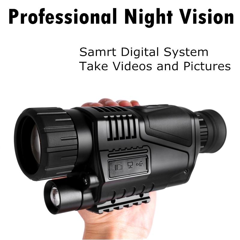 Professional Infrared Night Vision Monocular Powerful Digital Telescope hd for Hunting 200m night vision Long Range