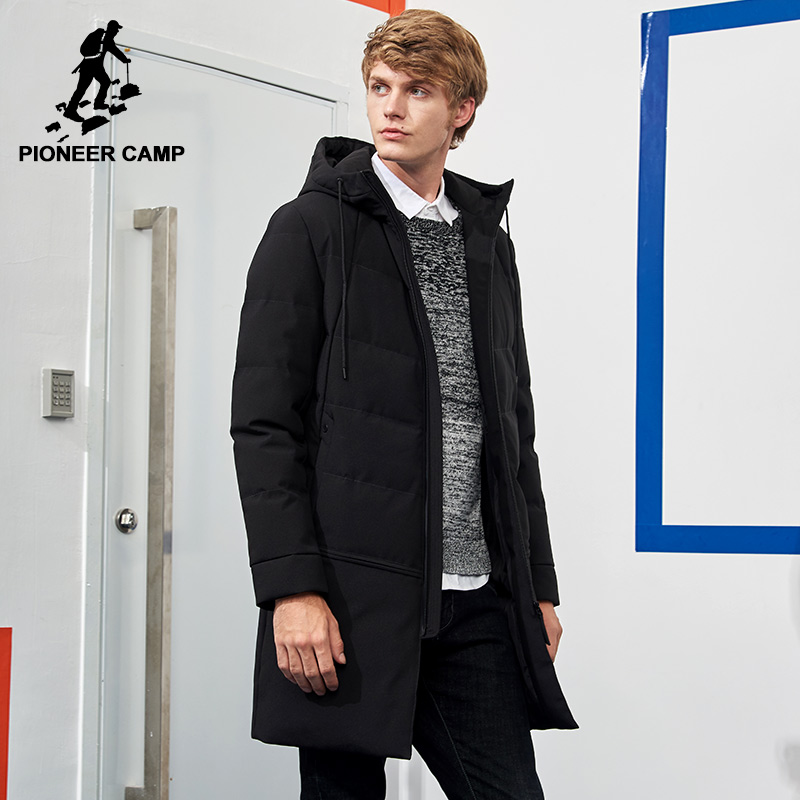 Pioneer Camp long thick parks men brand clothing warm winter men winter jacket quality hooded spring coat AMF705292