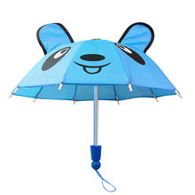Toy kids 6Style Umbrella Accessories For 18 inch Girl /Baby plastic Dolls Kids Handmade Outdoor Children Best Gift(China)