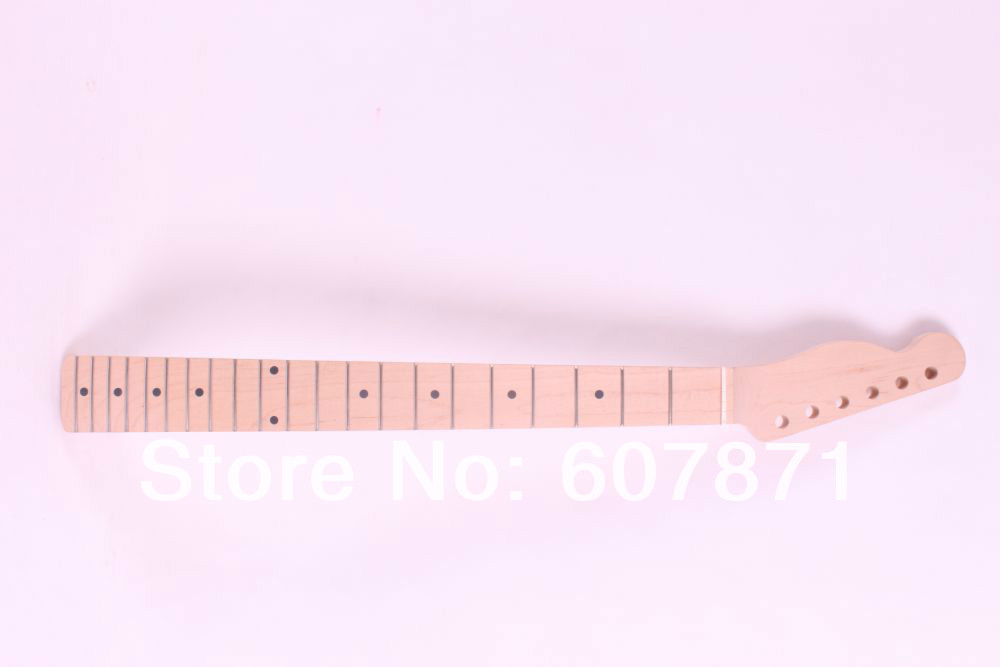 onw  unfinished electric guitar neck maple made and maple fingerboard Bolt on 21 fret new electric guitar neck maple 24 fret 25 5 truss rod unfinished no frets nice