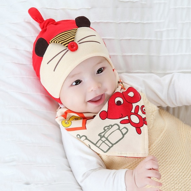 e1f787d5e1fd 2019 New Lovely Cute Animal Toddler Child Baby Boys Girls Sleep Hat ...