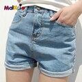 Malkris Verano Vintage Girl Mini Pantalones Cortos de Mezclilla de Las Mujeres 2016 Sexy Desgastados Pantalones Cortos de Jean Con Agujero Bermudas Pantalones Cortos Angustiados