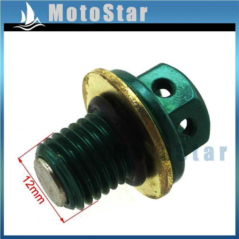 Green Magnetic Oil Drain Bolt Plug For 50cc 70cc 90cc 110cc 125cc 140cc  150cc 160cc Lifan YX Zongshen Engine Dirt Bike ATV Quad