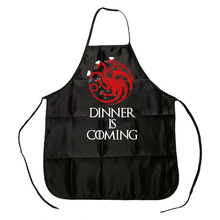 Game of Thrones Targaryen Dragon Dinner is Coming Apron BBQ Cleaning Cooking Baking Kitchen Accessories Fans Funny Gift