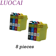 цены LuoCai 8pcs T0711 - T0714 Ink Cartridges Full Ink For Epson Stylus D78/D92/D120/DX4000/DX4050/DX4400/DX4450/DX5000/DX5050printer