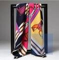 Mulheres xaile de seda de alta qualidade Cetim cachecol xale moda feminina cachecol mulheres longo lenço de impressão Digital shawl-b171-1 sillk