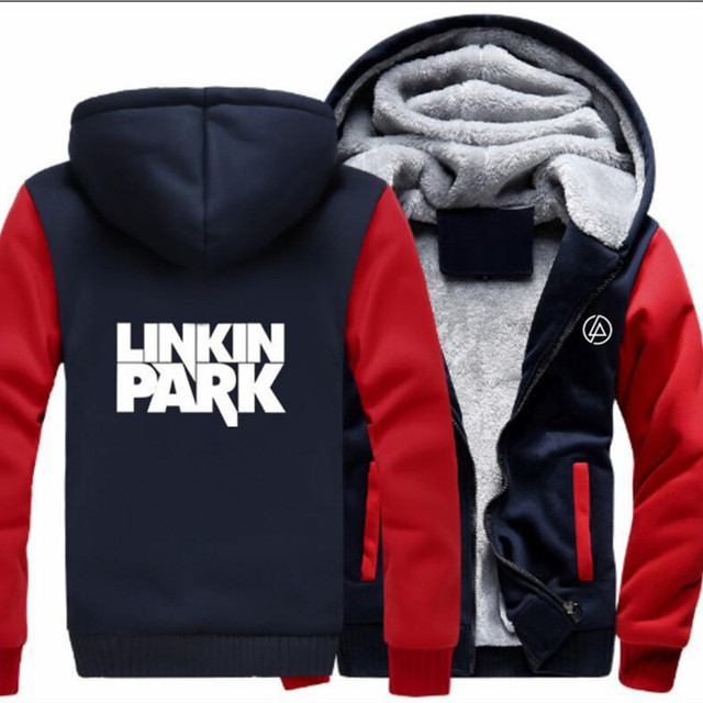 302690a50 ... Luva Longa Das Mulheres Casacos Outono inverno Plus Size S 5XL. Hoodies  Linkin Park Thick Hooded Sweatshirts Pullovers Men Women Long Sleeve  Outerwear ...