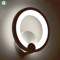 Wall Lamps Sconce Loft Aluminum Plated Bathroom Bedroom Bedside Corridor Wall Mounted Lamp Indoor Modern Stair LED Wall Light