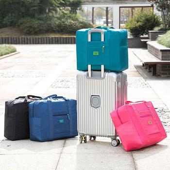 Hot Portable Waterproof Travel Bag Nylon Large Capacity Pouch Folding Traveling Handbags Unisex Packing Cube Luggage Storage Bag