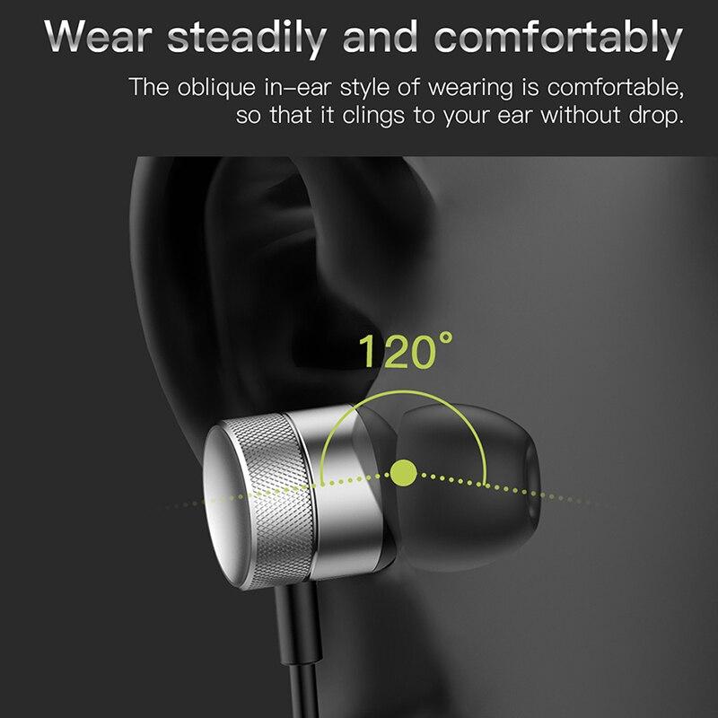 Baseus H04 Bass Sound Earphone In-Ear Sport Earphones with mic for xiaomi iPhone Samsung Headset fone de ouvido auriculares MP3 2