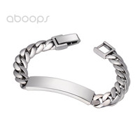 Plain Solid 925 Sterling Silver Curb Chain Bracelet for Men Women 9mm 18 20 cm Free Shipping