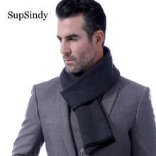SupSindy Winter scarf men wool cashmere Fashion Casual Men scarf