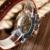 Luxo de Ouro Skeleton Analógico Algarismos Romanos Dial Brown Pulseira de Couro Alça de Mão-Liquidação Relógio de Pulso Mecânico Para Homens Mulheres
