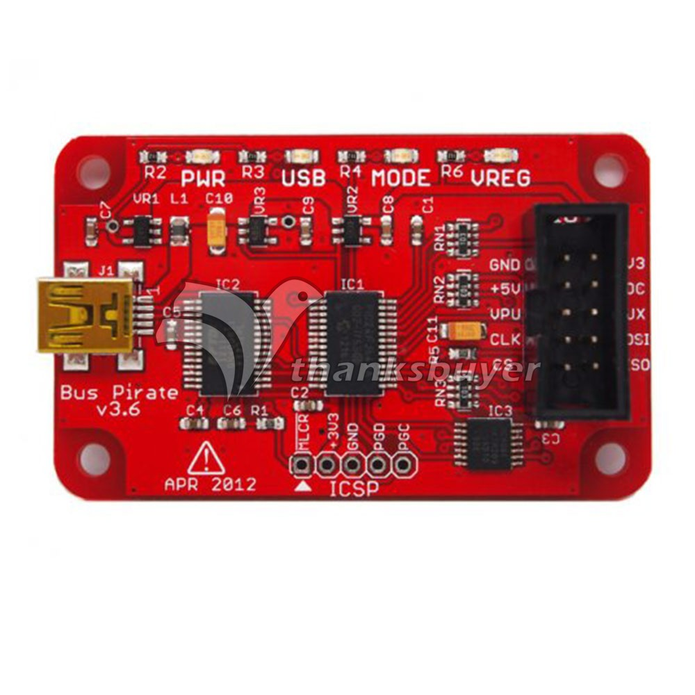 Bus Pirate V3 6 Universal Serial Interface Module USB 3 3 5V for Arduino DIY
