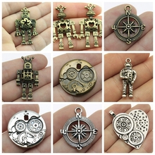 Mix Steam Punk Accessories Robot Charm For Jewelry Making Diy Craft Supplies Steampunk Gift
