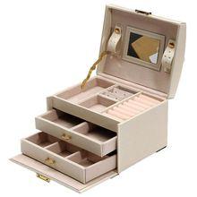 Большая коробка для ювелирных изделий шкаф туалетный сундук с застежками Браслет Кольцо Органайзер