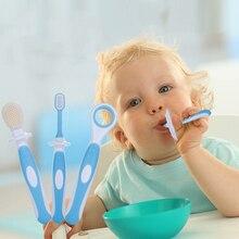 3pcs/set Kids Soft Silicone Training Toothbrush Baby Children Dental Oral Care Tooth Brush Tool Baby Kids Teething Teether