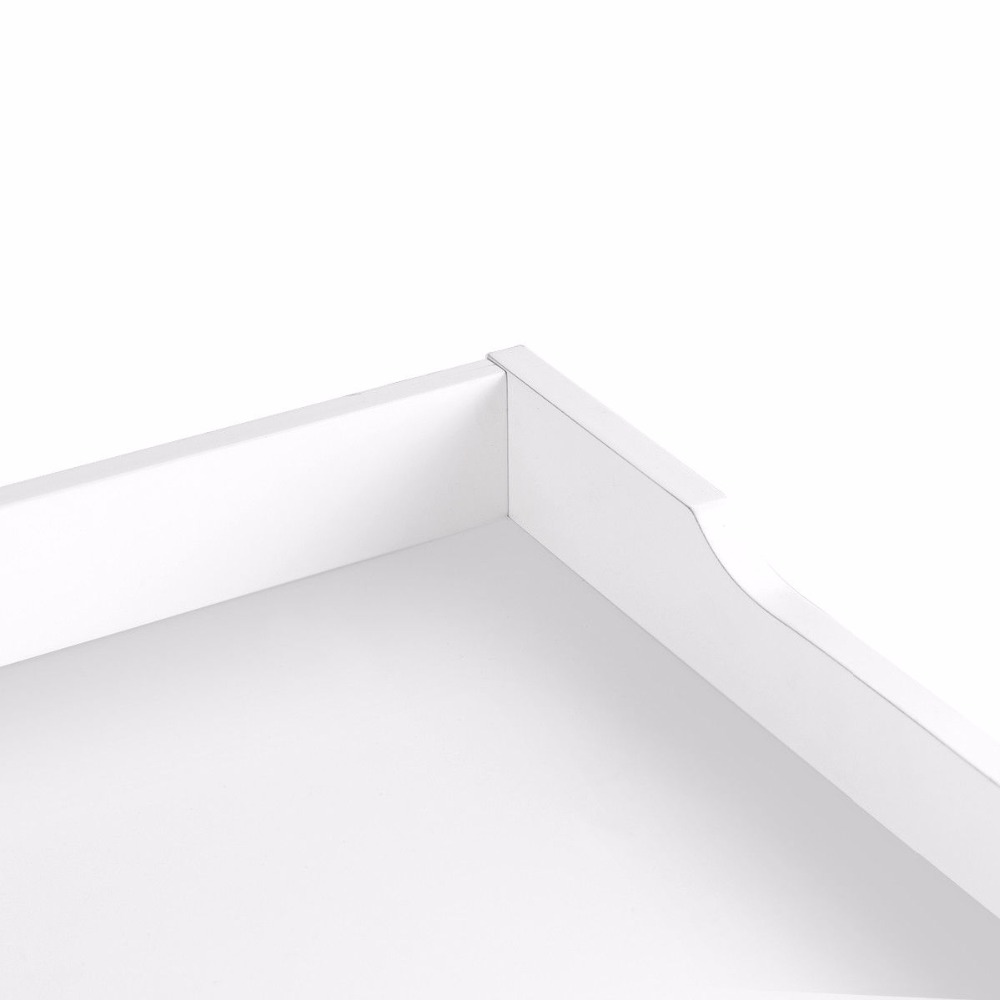 Giantex Bathroom Floor Cabinet End Table Storage Adjustable Shelf Organizer W/Door White HW59316 10
