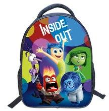 New Fashion 3D Cartoon Inside Out Kids School Backpack for Girl or Boy Children Double Shoulder Schoolbag Primary Students Bag