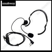 uv 5r uv Talkie Walkie מאחורי אוזניות ראש עם קו דחיפה PPT גדולה לדבר על KENWOOD ו Baofeng UV-5R KG-UVD1 (1)
