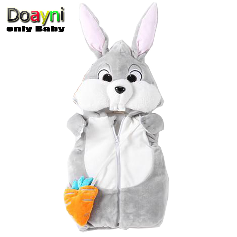 Jackets Hooded-Vest Rabbit Infant Baby-Girl Cotton Unisex Novelty for Thick Warm Clothing