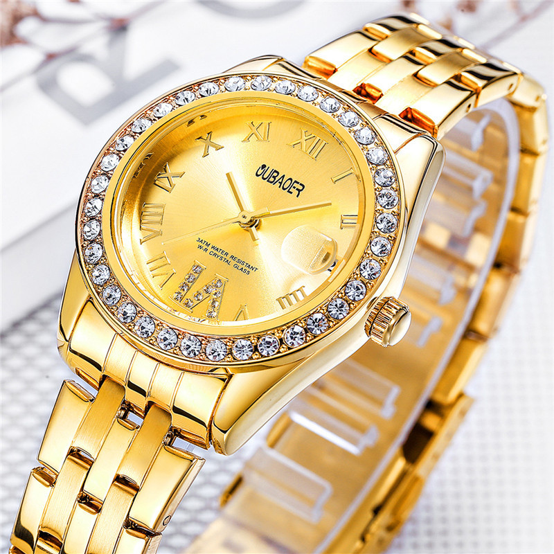 2017 Fashion Women Watches Top Luxury Brand Quartz Watch Women OUBAOER Simple Dress Casual Hours Hot Clock Reloj Mujer
