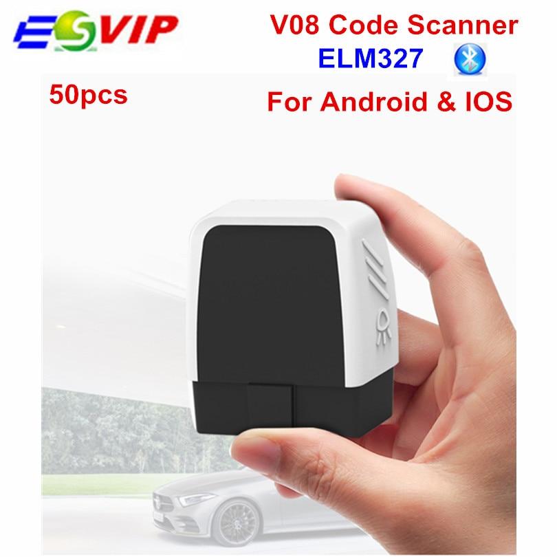 50 pcs V08 Mini OBD2 Bluetooth 4.0 per il lancio Auto Fault Diagnostica Scanner Lettore di Codice Strumento di Obd2 Scanner elm327 Auto Diagnostica strumento