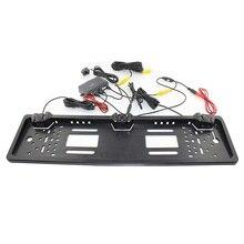 Promozione! PZ600-L Europeo Targa Sensore di Parcheggio con HD Videocamera vista posteriore Libera La Nave