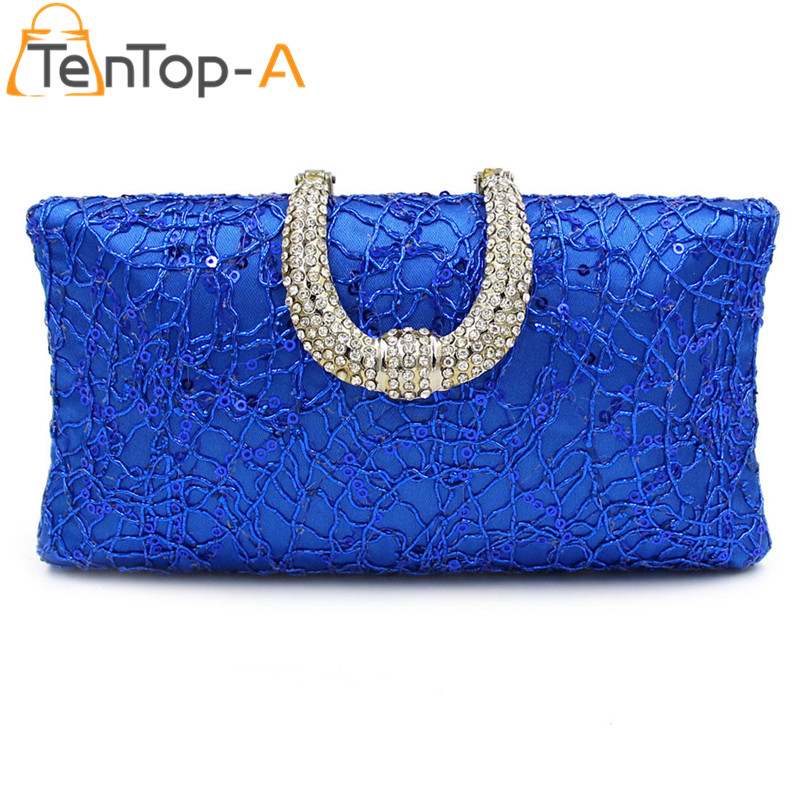 TenTop-Un Envío Libre Retro Diamante Bordado Con Cuentas de Noche Bolso de La Bo